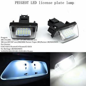 Супер яркий 2 шт. / лот 12 в 18 Led номерной знак лампочки лицензия свет для PEUGEOT 206 207 306 Citroen C3 Picasso C4 5 Xsara SAXO