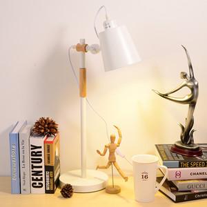 Офисный Кабинет Настольная Лампа Личность Бизнес Металл Настольные Лампы LED Глаз Чтение Настольная Лампа Деревянное Самомоднейшее Освещение Водить Стола