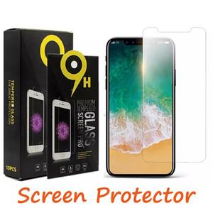 إلى iPhone X 7 8 Plus 6s Samsung j3 J7 Prime LG Stylo 4 A6 2018 واقي شاشة زجاج مقوى Anti-fingerprint with Paper Packag