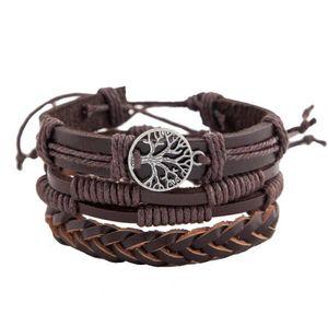 DHL Multilayer vintage Wrap Bracelets Men Women friendship braid Cords Wood Beads Ethnic Tribal Bracelets Leather Wristbands NT