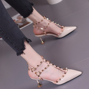 2018 fetish red bottoms high heels frauen schuhe hochzeit schuhe Niet mary jane pumpen escarpins femme damen lolita gladiator sandalen frauen