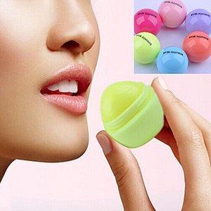 Bonito Sabor Rodada bola Lip Balm 3D Lipbalm Fruit Lip Smacker Natural Hidratante Lábios Cuidados Balm batom
