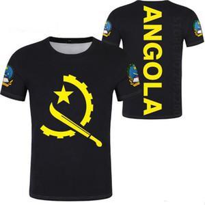 ANGOLA t camisa livre feito sob encomenda nome número branco preto bandeira cinza ao há diy t-shirt impressão português texto palavra angolano clothing