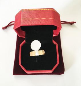 Anello in acciaio di titanio oro rosa amore anello 6 centimetri argento amante anello cacciavite gioielli di nozze regalo di compleanno per le donne gli uomini anelli
