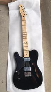 Kostenloser Versand ! Großhandel New Tel E-gitarre Humbucker Pickups Mahagoni Korpus Ahorn Hals Linkshänder In Schwarz 180620