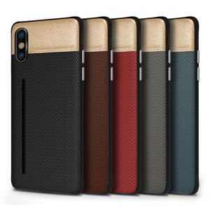 Nueva tela de lujo para el iphone 11 Pro XS MAX XR X 6S 7 8 más teléfono celular ranuras para tarjetas de crédito titular de caso Samsung Galaxy S8 S9 S10 Plus Nota 8 9