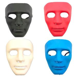 Máscara do dia das bruxas máscara branca jabbawockeez hiphop jabbawockeez máscara branca hip hop planície jabbawockeez máscaras do disfarce