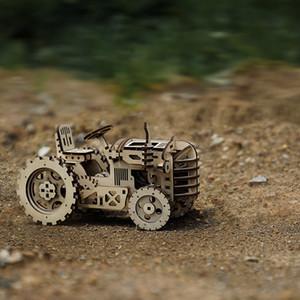 Robotime 4 أنواع الإبداعية diy الليزر قطع 3d الميكانيكية نموذج خشبي لغز لعبة تجميع لعبة هدية للأطفال مراهقون الكبار lk