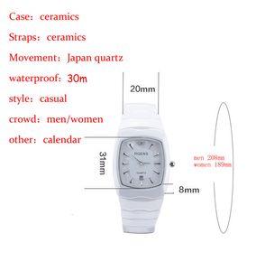 Алмазные Оригинальный кварцевые наручные Повседневный Ceramics женские часы 5508 Square Часы Водонепроницаемый Наручные часы RGENS Luxury Количество женщин C18111 Nvto