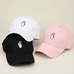 Amour Gestures doigt os Broderie Golf Casquette de baseball Hommes Femmes Snapback Caps Flipper Little Heart amour Sun Truck Hat
