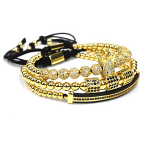 Мужская бижутерия Корона Шарм шипованная цирконий Мужская пара браслет Кружева Браслет из бисера Мужской браслет женский подарок