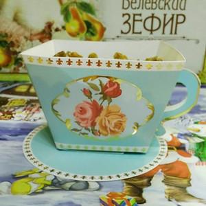 100 шт. чай форма конфеты коробка партия выступает свадебные гости подарки День Рождения душ выступает украшение чашки