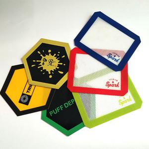 FDA Brand new resistência Não-stick de silicone esteira de cozimento anti slip mat dab extratos de óleo de cera personalizado silicone dab mat