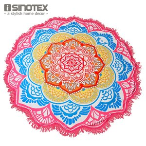 All'ingrosso-Mandala Telo Grande Yoga Mat Lotus stampa rotonda della nappa Arazzo Totem Coperta Hippy Boho Tovaglia 150 centimetri / 59 ''