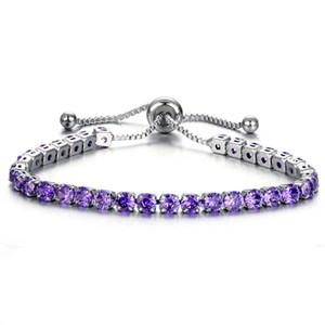 GLACÉ Pull réglable Bracelet Manchettes Ligne cubique Bracelet diamant zircon mariage bijoux de mode pour femmes enfants et cadeaux seront de sable