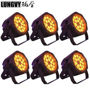 6pcs / lot 18x15w 5in1 RGBWA Étanche Led Par Can LED Par Lumière IP65 DMX512 Extérieure Par LED Peut Stage Lumière
