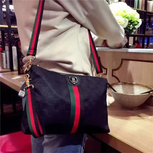 Bolsas de Ombro Mulheres Moda Bolsas Strap listrado Zipper Bag New Soft Nylon Messenger Ombro sacos de alta qualidade Feminino Lazer Saco