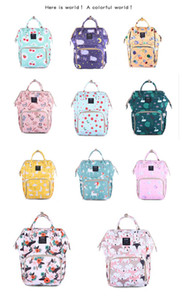 Mommy Bags Floral print Mother handbag Multifunction Diaper Maternity Backpacks Outdoor High capacity Nursing Travel Bags unicorn