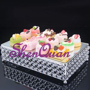 حوامل كعكة الزفاف الكريستالية ، حوامل معدنية معلقة للكعك في حفلات الزفاف ، حامل كعكة كريستال ، طبق ذهبي للكيك