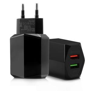 Schnellladung 3.0 QC 3.0 Schnell Schnell Reisen AC Lade Dual USB Wall Charger EU-Stecker USB-Ladegerät In Telefon