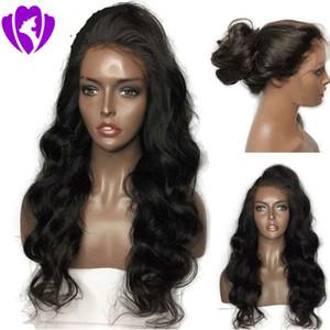 Synthetische Perücken der Körperwelle der Qualitäts 9A für schwarze Frauen schwarze / braune / rote Farbe brasilianische Spitze-Front-Perücken mit dem Baby-Haar