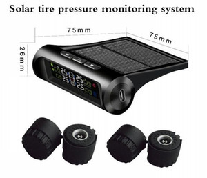 TPMS Sistema de Monitoreo de Presión de Neumáticos de Coche Pantalla de Energía Solar 4 Sensores Externos Sistema de Alarma Auto Herramienta de Diagnóstico