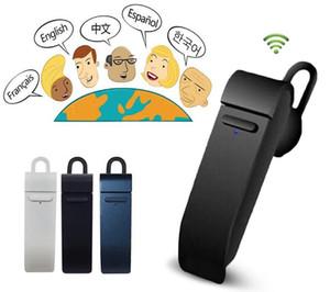 PEIKO Traduci Bluetooth Microfono Auricolare Metallo telaio Sport Stereo Auricolare Supporto 16 Lingue Traduttore immediato Auricolare senza fili