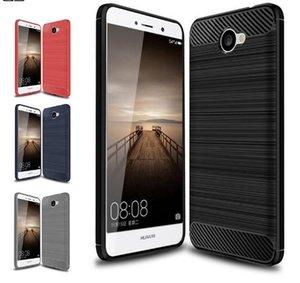 Carbon Fiber Fällen für Huawei Y7 Fall Silikon Soft Coque für Huawei Nova Lite Plus Tasche Haut europäischen Version 5.5