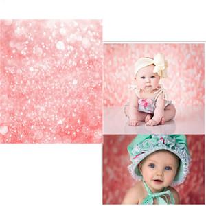 Розовый Боке Фон фотографии Printed Спарклз Новорожденный Photo Shoot Обои Prop ребёнки Birthday Party Booth стола