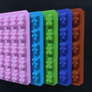 실용적인 귀여운 거미 베어 50 캐비티 실리콘 트레이 만들기 초콜릿 캔디 아이스 젤리 몰드 DIY 어린이 케이크 도구 도매 D0026-1