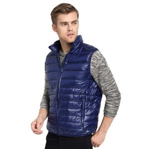Nuovo arrivo uomini di marca giacca senza maniche inverno ultraleggero bianco anatra giù gilet uomo slim gilet uomo antivento caldo gilet all'ingrosso