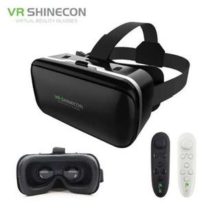 ¡Nuevo! VR Shinecon 6.0 lentes de cuero grandes realidad virtual Google Cardboard casco 3D gafas auriculares móviles para Iphone 4.7-6'Phone