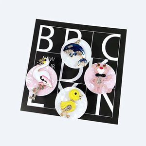 Luxury Diamond cartoon animal airbag bracket ring buckle universal fruit rhinestones lazy ring bracket can be customized