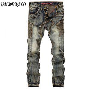 En gros Biker Jeans Hommes Denim Vintage Jeans Hommes Designer Skinny Jean Mâle Marque Rétro Jeans Hombre