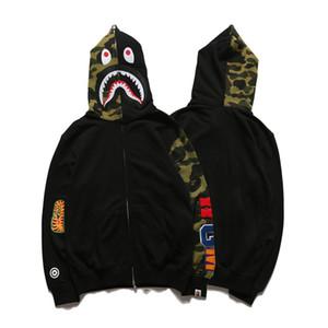 Hommes Camo Loose Hoodies Adolescent Mode Cardigan Sweat à capuche Populaire Marque Plus Cachemire Noir Hoodies Livraison Gratuite