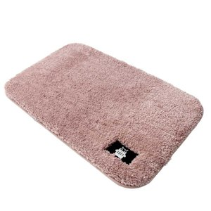 Absorbent soft suede non-slip mat, machine-washable polyester non-slip mat for living room bedroom - 50*80cm  5 colors