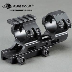 30mm / 25.4mm Duplo Scope Rings Cantilever Rifle Scope com 20mm Rail Mounts 20mm Weaver Picatinny Trilho