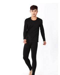 new arrival Manufacturers wholesale autumn male lycra cotton thin round collar long Johns underwear obese plus size XL -6XL