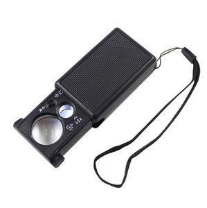 Portátil 30/60 Veces Lupa LED Luz Lupa Detector de Dinero Joyería Antigüedades Artesanías Identificar Herramienta Aprendizaje de Electrodomésticos
