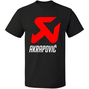 Exhaust System Logo Akrapovic Высокое качество S - 3xl Бесплатная доставка Мужская футболка с принтом Футболка Мужская Короткая высококачественная футболка