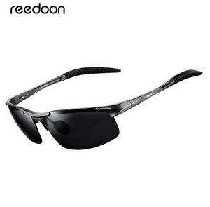 Reedoon óculos polarizados hd lente de metal quadro esporte óculos de sol marca designer para homens mulheres de condução de pesca ao ar livre r8177