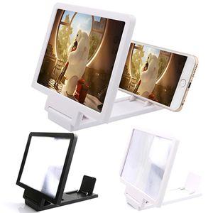 Pantalla de cine en 3D Amplíe el proyector de la lupa Soporte plegable portátil Lente del teléfono móvil para teléfonos móviles inteligentes DHL Envío gratis