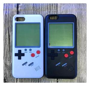 Gameboy Tetris Fundas de teléfono Play Blokus Cubierta de la consola de juegos TPU Funda de protección a prueba de golpes para iphone 6 6s 7 8 Plus Paquete de venta