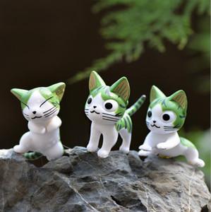 Mini jouets figurine miniature chat animaux de bande dessinée statue modèles Bonsai jardin Petit ornement paysage jardin Décoration