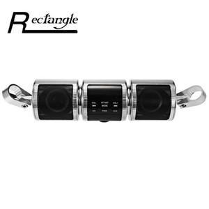 Promosyon! Motosiklet Bluetooth Stereo Hoparlör Motosiklet MP3 Müzik Çalar FM Radyo Ayarlanabilir Parantez Suya dayanıklı LED Ekran