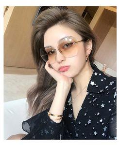 Irregular polygonal sunglasses new women's sunglasses frameless fashion personality cut edge sunglasses trend UV400 oculos de sol