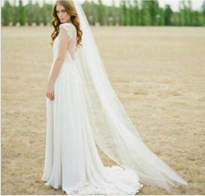 High Quality Single One Layer Floor Length Long Bridal Veils with Comb Soft Wedding Veil Accessories for Brides