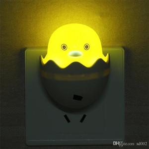 Cartoon Night Lamp Économie d'énergie Optiquement Contrôlées Induction Lumières En Plastique Little Yellow Duck Forme Led Lumière Pour Chambre 1 5sy Zz