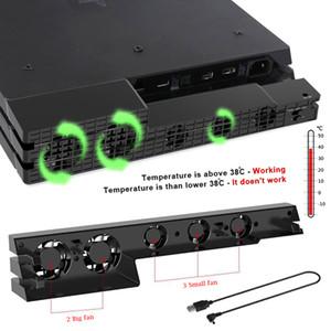 Консольный кулер PS4 Pro USB охлаждающий вентилятор Super Turbo Контроль температуры с USB-кабелем для Sony Playstation 4 PS4 Pro