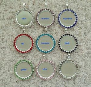 """50 pcs intérieur 1 """"(25mm) bouton de cristal de strass aplati bricolage rond plateau blanc collier pendentif charme pour les cabochons autocollants"""